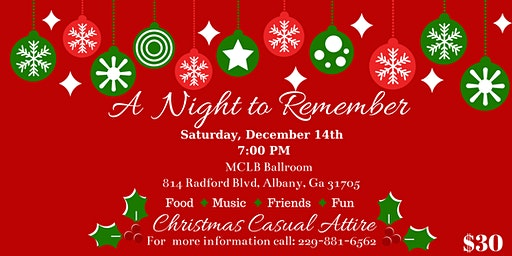 A Night to Remember Christmas Celebration
