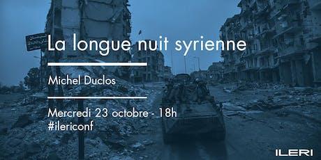 Michel Duclos – La longue nuit syrienne | Conférence billets
