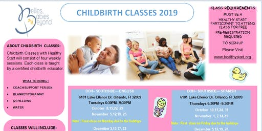 Childbirth Education Classes ENG - for Healthy Start and BBB clients only
