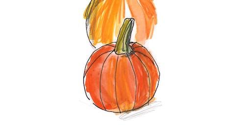 Autumn Sketch Walk on Fernhill Farm with illustrator Elisa Cunningham