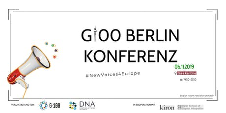 G100 Berlin Conference: New Voices For Europe Tickets