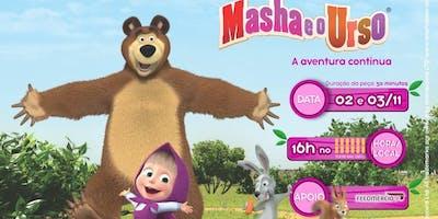 """50% de Desconto! Espetaculo """"Masha e o Urso"""" no Teatro Raul Cortez"""