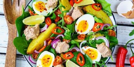 02/12 - SALADERIA – Saladas, molhos, proteínas e complementos 19h às 22h - R$ 190,00 ingressos