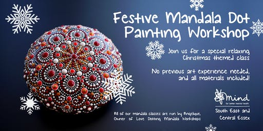 Festive Mandala dot painting workshop with SECE Mind - Christmas Special