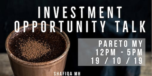 INVESTMENT OPPORTUNITY TALK