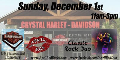 April Red ROCKS Crystal Harley-Davidson in Homosassa!