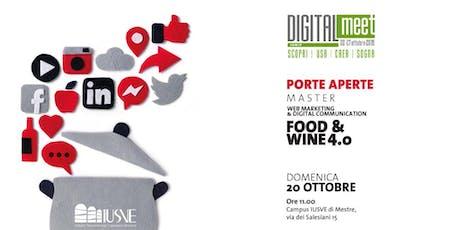 Porte aperte al Master food and wine biglietti