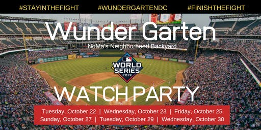 Wunder Garten  Washington Nationals World Series Watch Party