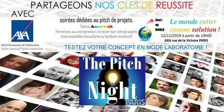 "Pitch night Paris spécial ""ASSURTECH"" billets"