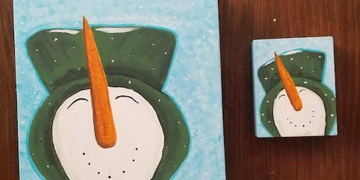 Happy snowman paint party