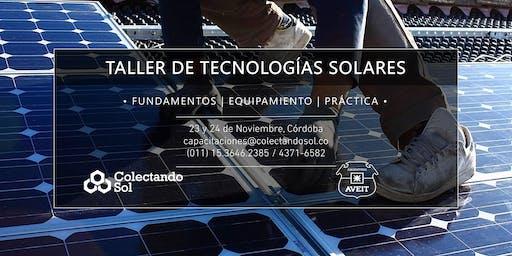 Taller de Tecnologías Solares Córdoba / Noviembre 2019