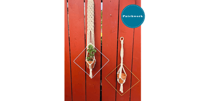 Patchwork Presents Macrame Diamond Plant Hanger Craft Workshop