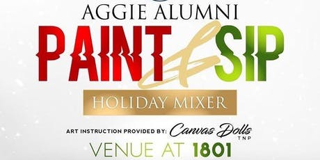 Aggie Paint & Sip Holiday Mixer tickets