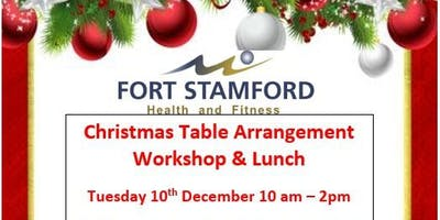 Christmas Table Arrangement workshop and lunch