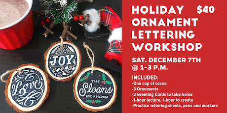 Holiday Ornament Lettering Workshop tickets
