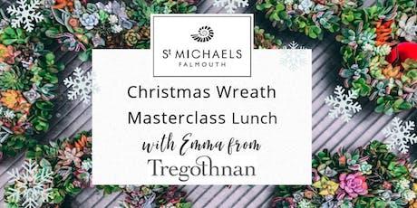 Christmas Wreath Making Materclass & Lunch with Tregothnan's Head Florist tickets