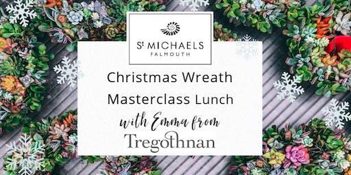 Christmas Wreath Making Materclass & Lunch with Tregothnan's Head Florist