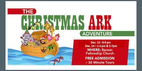 The Christmas Ark Adventure tickets