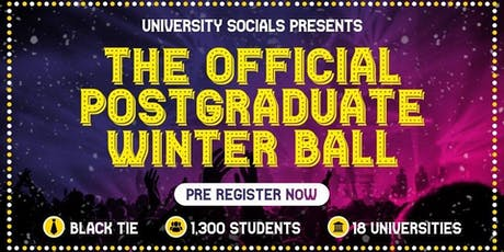 The Official Postgraduate Winter Ball / 2019 tickets