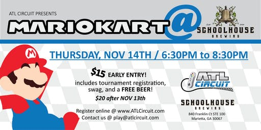 Mario Kart 8 Deluxe Tournament-November 14th