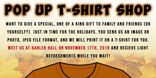 HCCA Holiday T-Shirt Pop-Up Shop