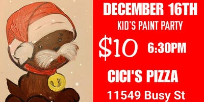 Kid's Pizza & Paint