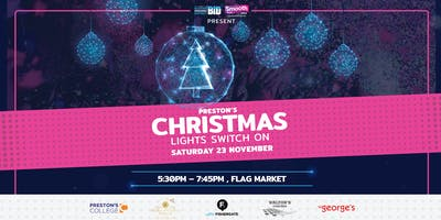 Preston's Christmas Lights Switch On