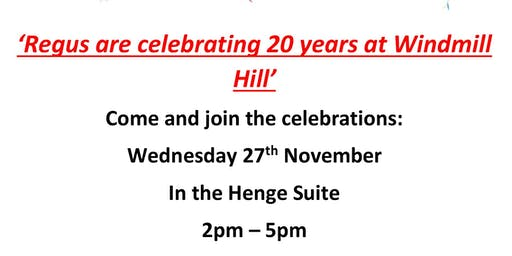 Celebrating 20 years at Regus House