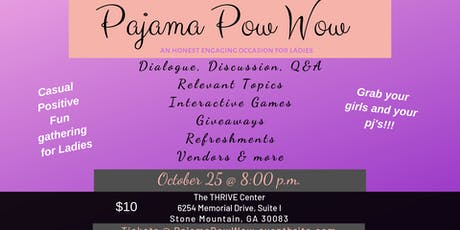 Pajama Pow Wow October 25, 2019 tickets