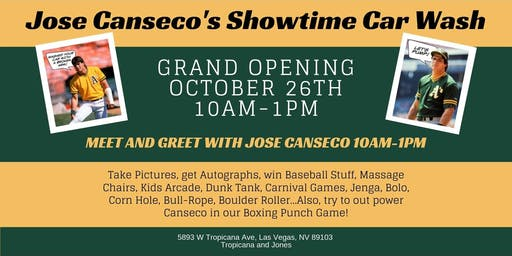 Jose Canseco's Showtime Car Wash Grand Opening