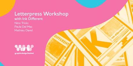 Letterpress Workshop with Ink different biglietti