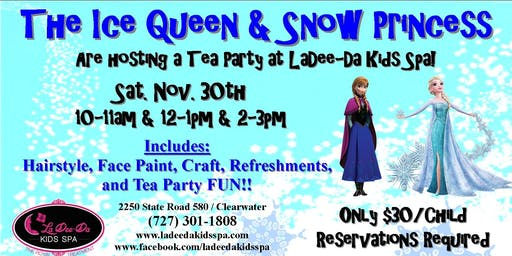 Frozen Themed Tea Party - 3rd Seating