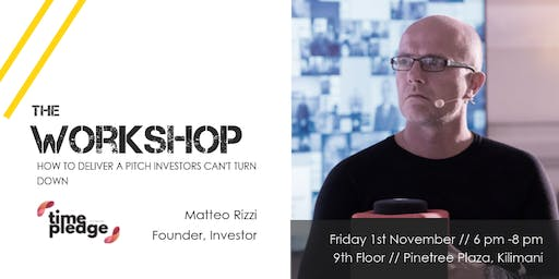 Workshop // How to deliver a pitch investors can't turn down