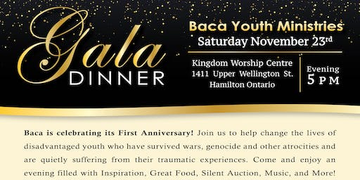 BACA YOUTH MINISTRIES GALA DINNER