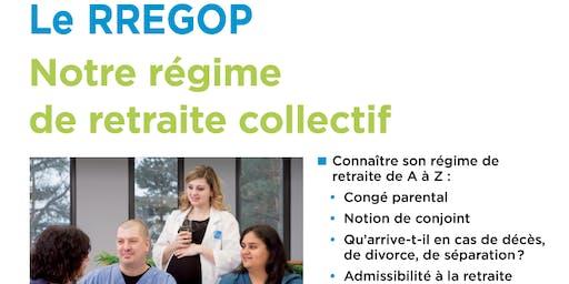 Séance d'information RREGOP pour la catégorie 1