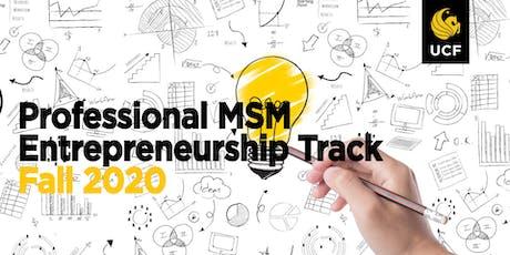 Professional MSM Entrepreneurship Info Session 11/14/2019 tickets