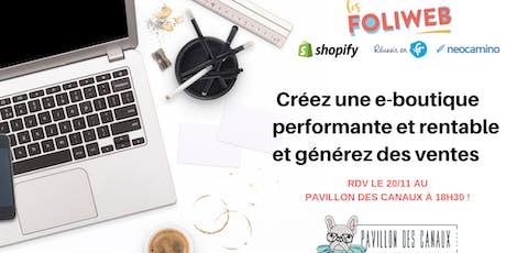 [Paris] Créez une e-boutique performante et rentable et générez des ventes billets