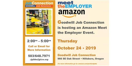 Amazon is Hiring! - Hillsboro - 10/24/19