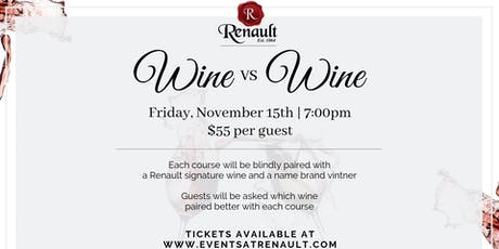 Wine VS Wine at Renault Winery tickets