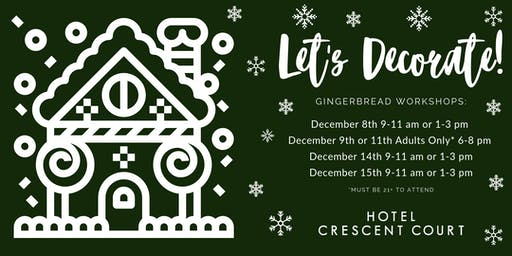 Adult Gingerbread Decorating Workshop