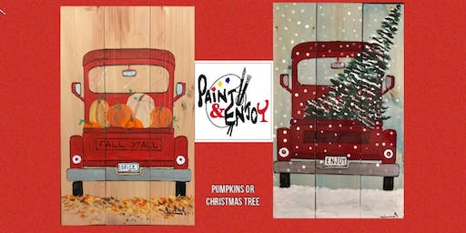"Paint and Enjoy at Nissley Winery ""Red Truck"" on Wood"