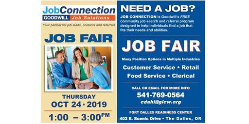 Job Fair - The Dalles - 10/24/19