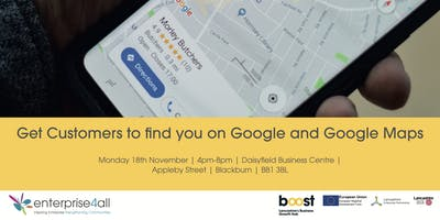 Get Customers to find you on google and google maps