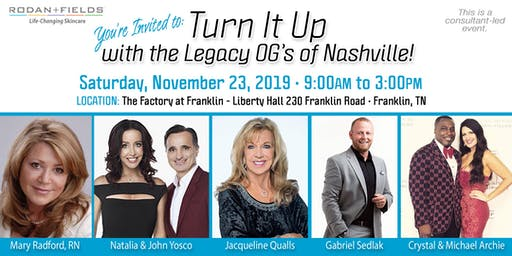 Turn It Up with the Legacy OG's of Nashville!