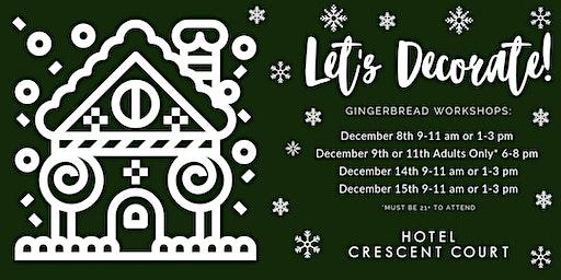 Adult Gingerbread Decorating Workshop