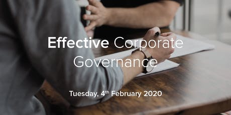 Effective Corporate Governance tickets