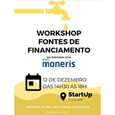 Workshop Fontes de Financiamento bilhetes