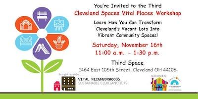 Cleveland Spaces Vital Places Workshop 3: It Takes a Village