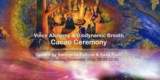 Voice Alchemy & Biodynamic Breath Cacao Ceremony