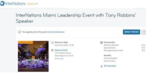 Internations Miami Presents Dug McGuirk (Tony Robbins' National Speker)